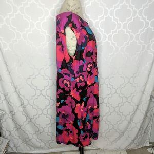 Dana Buchman Dresses - Dana Buchman Floral Knit Twist Dress